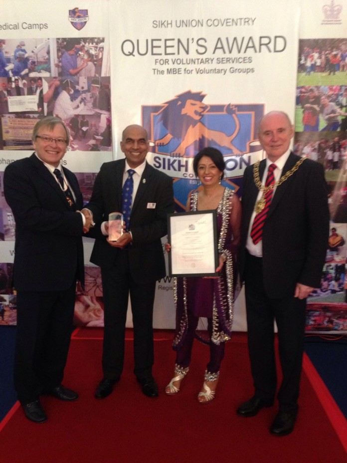 Sikh Union Coventry receives Queen's Award for Voluntary ...