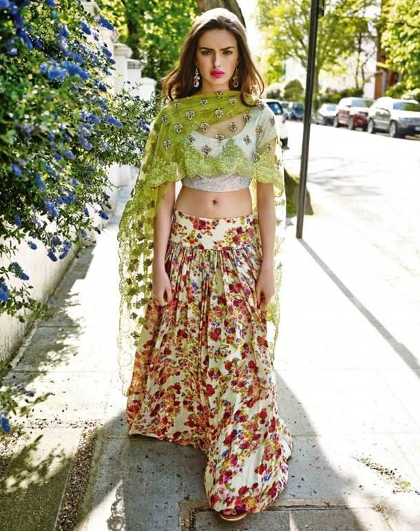 brown-girl-green-flower-dress