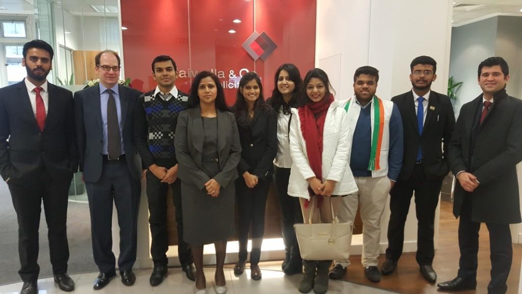 India INBA delegates at Zaiwalla & Co offices