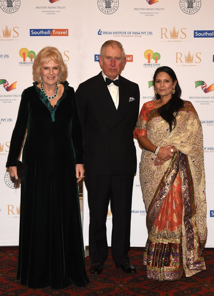 The Duchess of Cornwall, HRH and Priti Patel (Justin Goff- Goff Photos)