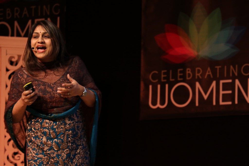 Janhavi Dadarkar delivers inspirational talk at 8th Annual IWD at Neasden Temple