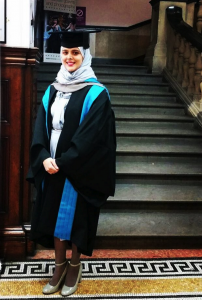 Reharna at her Master's graduation