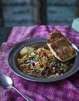 purple table food