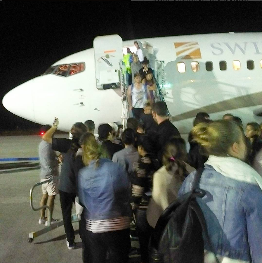 Guests had to wait 5 hours on the tarmac before rescue Source thecelebsnapper IG