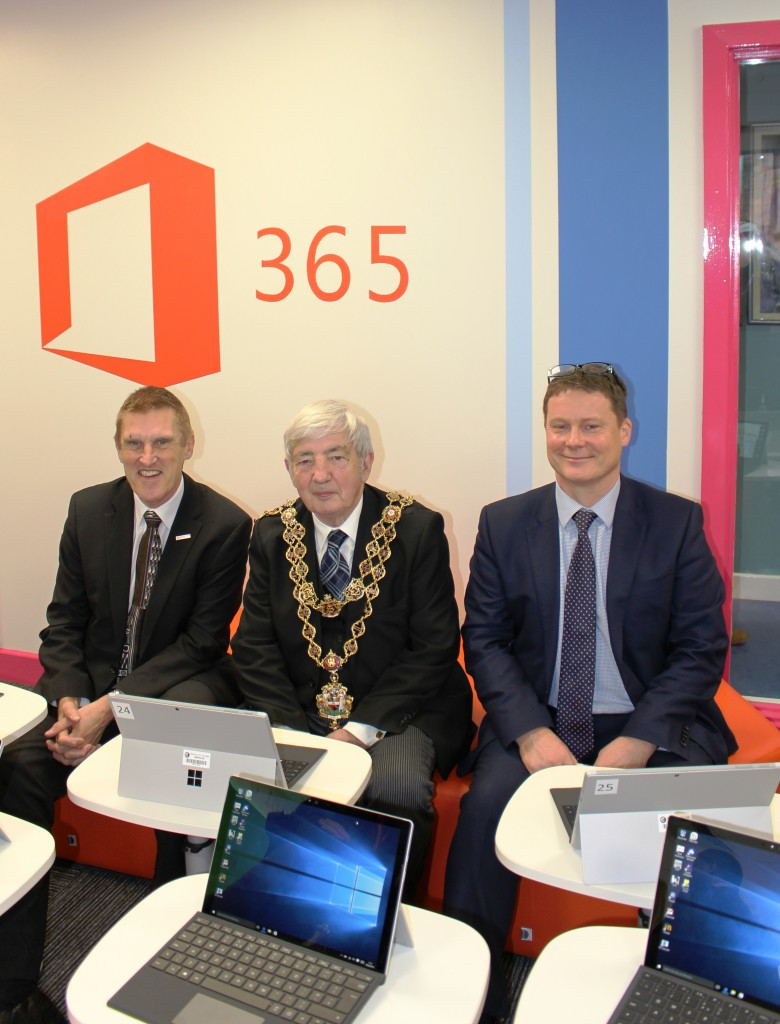 MS Launch - Mike Hopkins, Lord Mayor, Mike Morris