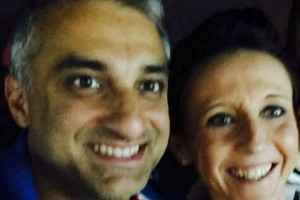 Happier Times - Babur Karamat Raja and Natalie Queiroz