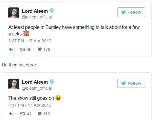 Lord Aleem Tweets