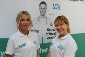 Sophie and Jenna, part of the Be Clear on Cancer campaign