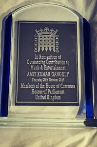Award from Houses of Parliament to Amit Kumar