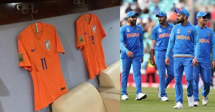 new orange jerseys for the india cricket team